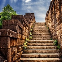 Steps leading upwards