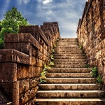 Steps leading upwards