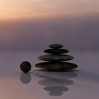 A pile of pebbles indicating balance