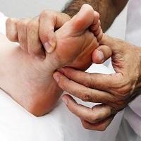 Foot reflexology treatment
