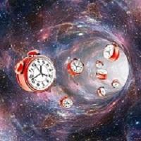 Clocks being drawn towards a vortex