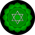 Green lotus representing the heart chakra