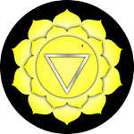 Yellow flower representing the solar plexus chakra