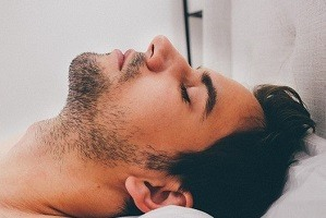 Profile of a man asleep