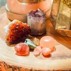 Selection of crystal healing stones